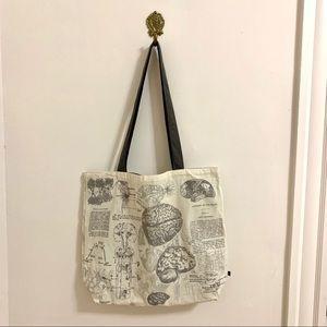 Science Boho Canvas Bag Large Grey